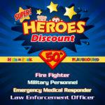 Super Heroes Discount!